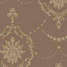 Oscuro y dorado #papel #tapiz #decoracion #interiorismo Decoupage, Gold Necklace, Chain, Jewelry, Renaissance, Dark, Paper Envelopes, Elegant, Backgrounds
