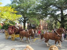 Wells Fargo Stagecoach during New Bern's 300th Anniversary Jubilee Parade.