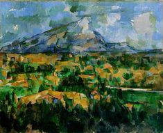 Cezanne-Mont Sainte-Victoire, 1902-04. Post-Impressionism. Philadelphia Museum of Art #painting #french
