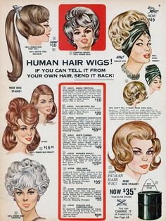 1964 Frederick's of Hollywood wigs