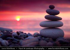 Georgia - Black Sea - Moment of Zen on Batumi Beach during Sunset by Lucie Debelkova - Travel & Landscape Photography, via 500px