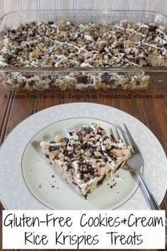 gluten-free cookies and cream rice krispies treats