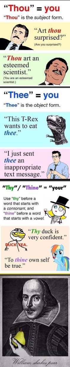 And Here's The Correct Usage Of 'Thy' And 'Thou'