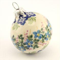 Ceramic Christmas ball - Polish pottery - Polská keramika - Krásná ručně zdobená vánoční ozdoba