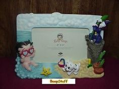 Baby Betty Boop Picture Frame On The Beach Design (w6891)