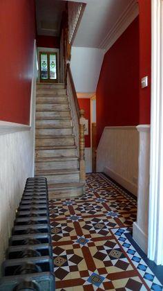 victorian mosaic tile hallway streatham kensington mayfair west end westminster london Hall Tiles, Tiled Hallway, Victorian Mosaic Tile, Victorian Hallway, London Garden, West End, Rest Of The World, Westminster, Hallways