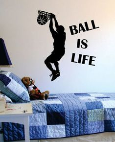 Amaonm/® Removable DIY Player Playing Basketball Wall Decal Slam Dunk Basketball Players Wall Stickers Murals Peel Stick Wall Decor For Kids Room Child Bedroom Classroom Boys Palyroom 6112962