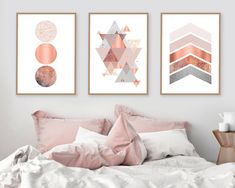 Trending Now Art Printable Art Set of 3 Prints Print Set 37 Of The Most Trending Modern Decor Ideas Everyone Should Try – Trending Now Art Printable Art Set of 3 Prints Print Set Source Rose Gold Rooms, Rose Gold Decor, Rose Gold And Grey Bedroom, Room Decor Bedroom Rose Gold, Rose Gold Wall Art, Pink Wall Art, Living Room Ideas Rose Gold, Rose Gold Bedroom Wallpaper, Copper Bedroom Decor