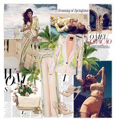 """Roberto Cavalli - S/S 2013"" by mrekulli ❤ liked on Polyvore featuring Sarah Jessica Parker, Roberto Cavalli, Winward and Lanvin"