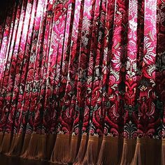 Will never get tried of looking back on these gorgeous stage curtains we saw while in New York. The colour is a perfect example of how you can turn anything traditional into a beautiful statement.