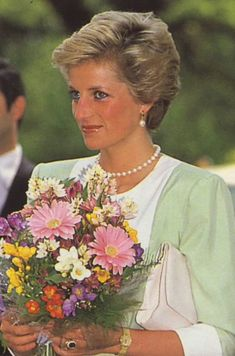 May 9, 1990: Princess Diana on an official visit to Budapest, Hungary.