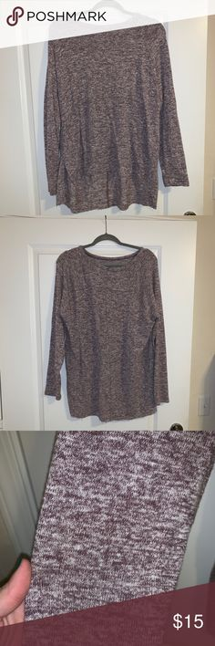 3b21e36bd American Eagle Plush Shirt Super soft and cute purple heathered plush top.  Never been worn