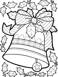 Christmas Coloring Page More Lets Doodle Pages By Hellokittytwo
