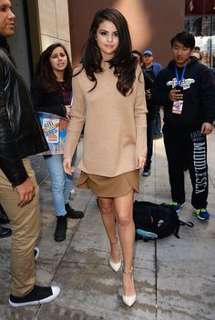 How To Make An Entrance (& Exit) Like Selena Gomez #refinery29  http://www.refinery29.com/selena-gomez-style-pictures#slide-18  Is that Amal Clooney or Selena Gomez?...