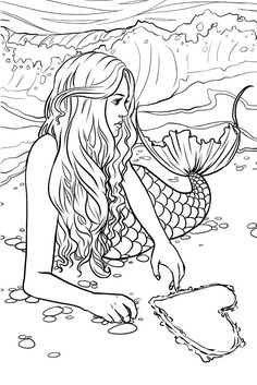 Artist Selina Fenech Fantasy Myth Mythical Mystical Legend Elf Elves Dragon Dragons Fairy Fae Wings Fairies Mermaids Mermaid Siren Sword Sorcery Magic Witch Wizard colouring pages for adult Coloring Pages For Grown Ups, Coloring Pages For Kids, Coloring Books, Fairy Coloring Pages, Detailed Coloring Pages, Kids Coloring, Mermaid Coloring Book, Printable Adult Coloring Pages, Mermaid Art