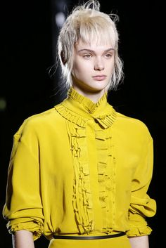 Haider Ackermann Fall 2018 Ready-to-Wear Fashion Show Details Women's Runway Fashion, Fashion Show, Emperors New Clothes, Fall Winter, Autumn, Baby Yellow, Haider Ackermann, Fall 2018, New Outfits