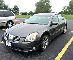 Used 2005 Nissan Maxima 3.5 SE in 'Smoke Metallic' and Black leather interior. Mileage 121,213.  $5,491