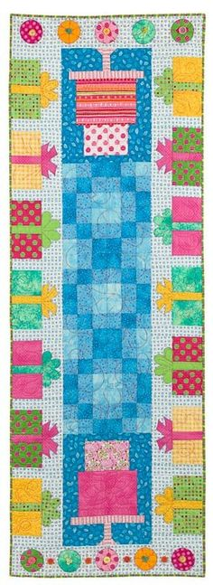 Party Time Table Runner Pattern by lnownes on Etsy