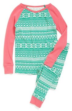 girls two-piece fitted pajamas $34