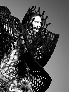 Fashion Architecture - 3D pattern structure; experimental fashion constructs