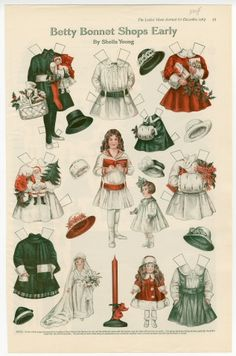 75.2932: Betty Bonnet Shops Early | paper doll | Paper Dolls | Dolls | National Museum of Play Online Collections | The Strong