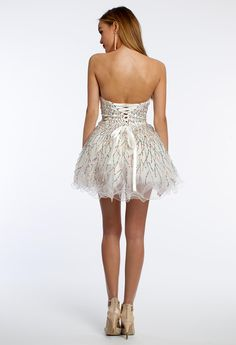 Short Tulle Sequin Dress #camillelavie #CLVprom