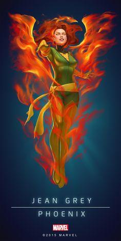 Jean_Grey_Phoenix_Poster_01.png 2.000×3.997 píxeles