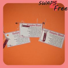 Vampire Blood Glitter Vial Girl Scout SWAPS Free Printable Halloween #girlscoutswaps