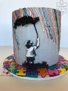 Sugar Art for Autism Collaboration by mcgcakedesign