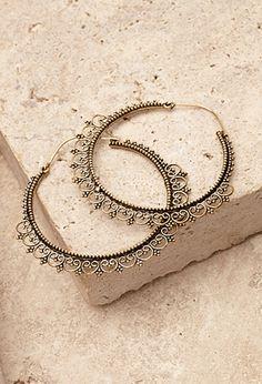 Filigree Trim Hoop Earrings | Forever 21 | #f21accessorize