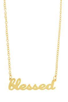 LEILA  Blessed Script Pendant Necklace