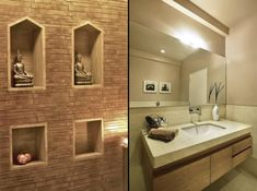 Prakruti Residence – a+t associates Bed Design, Bungalow, Toilet, Interior Design, Mirror, Bathroom, House, Dream Homes, Architects