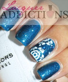 Let it Snow. Lacquer Addictions nail blog.