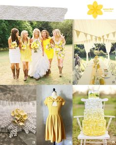 Lemon Zest - Pantone Colors Spring 2013 Wedding Inspiration Board    Querida Novia | Blog de Bodas, Inspiraciones, Ideas, Manualidades, DIY