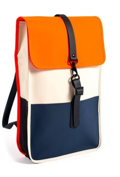 Backpack - Sand/Orange/Blue - RAINS | Rainwear | Modern Danish Design - 1  http://ebagsbackpack.tumblr.com/