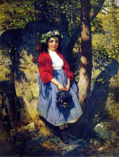 The Little Queen Of The Woods. John George Brown (1831 – 1913, English-born American)