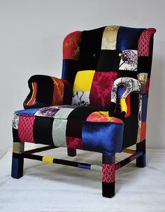 wings armchair patchwork by namedesignstudio on Etsy, $1495.00