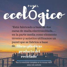 Panel ecológico utiliza fibras plásticas #recicladas como...