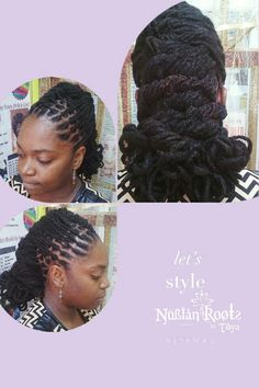 Dreadlock style done at the Nubian roots by toya salin