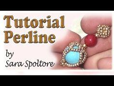 TUTORIAL PERLINE [28] - Orecchini Roberta (Beading tutorial) - YouTube