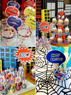 Bird's Party Blog: Cool Customers: Spider Man Inspired Birthday Party