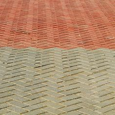 Stain can be applied to brick pavers to enhance or change their color.