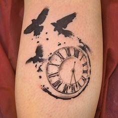 Bildergebnis für rabbit and clock tattoo