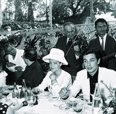 Alain Delon and Romy Schneider in  Cannes .... what a life!