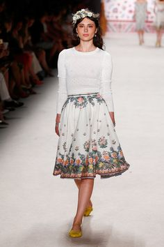 Lena Hoschek | SS16 | Spring Summer 2016 fashion week Berlin | floral skirt