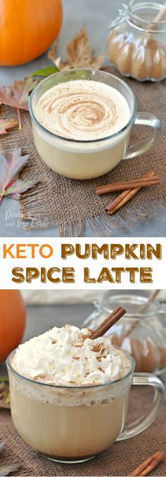 Keto Pumpkin Spice Latte | Peace Love and Low Carb via @PeaceLoveLoCarb