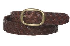 1 1/4'' Braided Woven Leather Oval Belt, Brown | S/M - 32 Made by #beltiscool Color #Brown. Braided jean belt. Oval buckle. Wear with jeans or sportswear