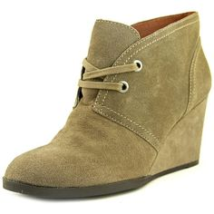 Lucky Brand Womens Seleste Almond Toe Ankle Fashion Boots (£23) ❤ liked on Polyvore featuring shoes, boots, ankle booties, brown, lace-up wedge booties, wedge heel booties, leather ankle boots, lace-up bootie and brown leather boots Tan Ankle Boots, Wedge Boots, Mid Calf Boots, Ankle Booties, Women's Boots, Leather Fashion, Fashion Boots, Lace Up Wedges, Brown Leather Boots