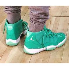 """Chris Paul's Air Jordan 11 """"Emerald"""" #airjordans #airjordan11"""