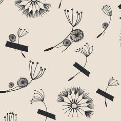 Cleta - Riding Diary - BW   Fabric Spark